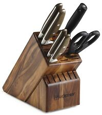 Wusthof Epicure 7 Piece Block Knife Set 8872 NEW in Box Auth Dealer