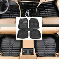 5xBlack Leather Universal Auto Car Floor Mats Front/Rear Liner Waterproof Safety