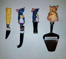 Disney Pixar Ratatouille Remy Emile Cheese Spread 00004000 er Knife Wine Cork Bon Appetit
