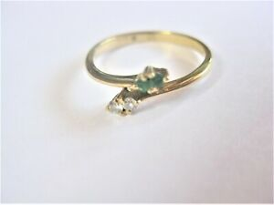 Ring Gold 585 With Emeralds And Diamonds, 1,46 G