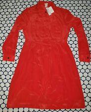 NWT $178 J Crew Silk Blythe Shirtdress Dress Fire Orange sz 12