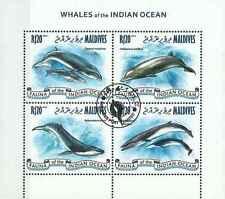 Timbres Faune marine Baleines Maldives 4067/70 o de 2013 lot 15721 cote : 16 €