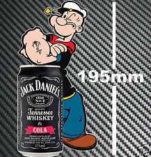 Jack Daniels Can Popeye Sticker Suit Pub Door Bar Fridge Cooler Camping Trailer