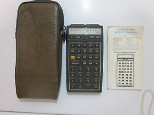 Vintage Hewlett-Packard HP-41C Programmable Calculator with Modules & Case As IS
