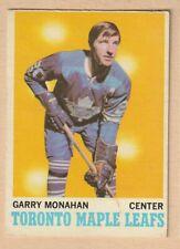 HOCKEY CARD NHL 1970-71 GARRY MONAHAN  TORONTO MAPLE LEAFS  OPC #112