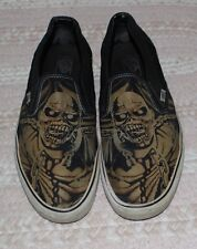 Iron Maiden VANS Slip On Shoes 12 Piece of Mind USED Limited Edition