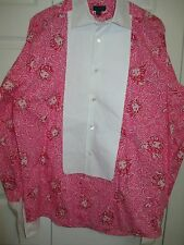 Vintage Lilly Pulitzer Mens whitehall formal Shirt XL 16 palm beach king hearts