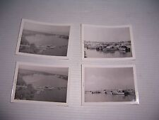 VINTAGE LOT OF 4 LAKE ERIE BOATS BLACK & WHITE PHOTOGRAPHS JUNE 1960