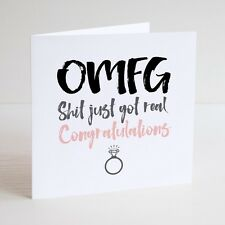 Funny Greeting Card / Cheeky / Humour / ENGAGEMENT / Congratulations / Real love