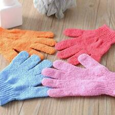 1Pcs Shower Bath Gloves Exfoliating Wash Skin Spa New F5X3 Massage Glove K8O9