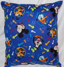 New Disney Handmade Mickey Mouse Goofy Pluto Donald Travel Pillow 12 X 9