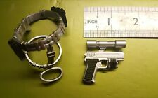 "1/6 scale BBI CY girl gun Female PERFECT DARK 's Pistol + belt for 12 "" figure"