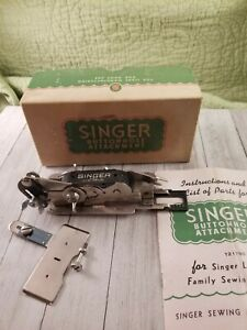Singer Buttonhole Attachment #121795 w/ Manual Singer Locksmith Sewing Machine