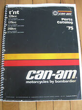 1975 CAN-AM TnT 125 175 250 PARTS BOOK ROTAX  BOMBARDIER FREE SHIP US+CANADA
