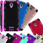 For AT&T RADIANT CORE Phone Case Brush Hybrid Cover Combat
