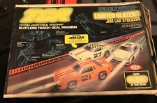 IDEAL TCR TOTAL CONTROL RACING 1977 LIGHTED BLAZERS JAM CAR RACE SET Complete!