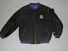 Los Angeles Kings Pro Player Leather Jacket Black X-Large '98-'02 Logo Used (cl)