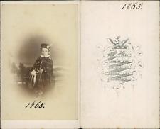 Cobb, Hythe, petite fille au chapeau CDV vintage albumen Tirage albuminé  6,