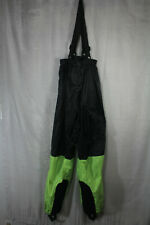 Neon Green And Black Reflective Construction Overalls Size Large