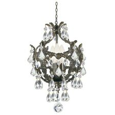 Crystorama Legacy 3 Light Clear Crystal Bronze Mini Chandelier - 5193-EB-CL-MWP