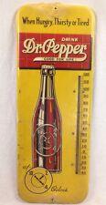 RARE Vintage Dr Pepper Thermometer Sign Antique Soda Pop Cola Beverage
