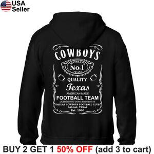 Dallas Cowboys Hoodie JD Whiskey Hooded Sweat Shirt Sweatshirt Sweater DAL
