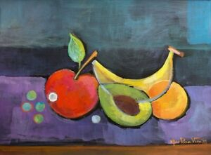Cubism Original Painting Modern artwork Marlina Vera Art Still Life Modernism
