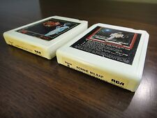 (2) Ronnie Milsap Live & Only One Love In My Life 8 Track Tape TESTED Play Great
