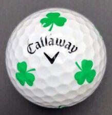 Rare Green Shamrock Logo Golf Ball (1) Callaway Chrome Soft Preowned