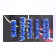 BLUE Mirror Chrome 30 Piece Nut Bolt Screw Covers Set Motorbike MB18/02
