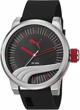 NEW PUMA PU103831001 MENS ULTIMATE SILICONE WATCH - 2 YEARS WARRANTY