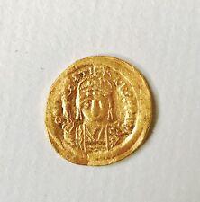 Antica Bizantina Giustino II Moneta D'Oro solidus Costantinopoli 567 - 578 scarse