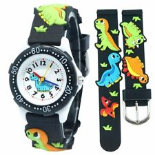 Cute Dinosaur Cartoon children watch girls Rubber kids boys Silicone Wrist Watch