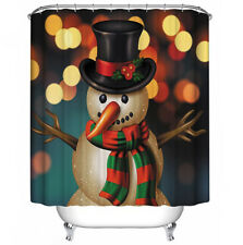 Snowman in Lights Fabric Shower Curtain 70x70 Holiday Christmas