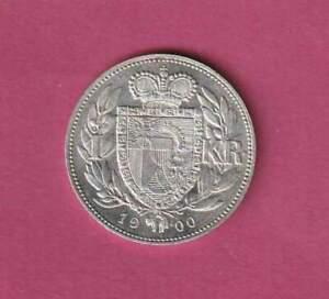 """Liechtenstein 1900, 1 Kronen Silbermünze """"Johann II."""" GN5137 P.Nr.2 Erh. VZ++"""