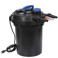 4000 Gallon Pressure Bio Filter Water Pond w/ 13W UV Sterilizer Light Koi Filter