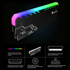 RGB RAM Heatsink DDR DDR3 DDR4 Memory Heat Spreader Cooler for Desktop PC