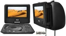"NEW Pyle PDH9 9"" Portable Swivel TFT DVD Player USB/SD Input + Car Headrest Case"