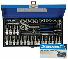 "Silverline 38pc Metric Socket Screwdriver Wrench Set 1/4"" Drive Torx Hex Bits"