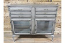 Industrial Metal Cabinet With See-through doors- Industrial Style