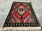 Authentic Hand Knotted Vintage Hamidoun Wool Area Rug 2 x 1 Ft