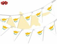 Cyprus Full Flag Patriotic Themed Bunting Banner 15 Triangle flags National