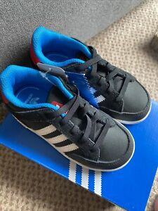Adidas Black Suede Infant Sneakers Size 9UK BNWT