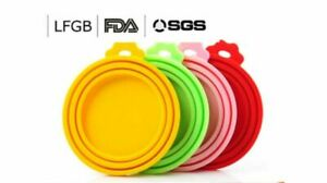 4PCS of Pet Food Can Cover Silicone Reusable Cap Can Lids for Dog and Cat Food