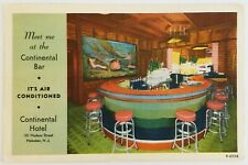 Meet Me at Continental Bar Air Conditioned Hotel Hoboken New Jersey Postcard