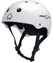 Protec Classic Skate Helmet Gloss White Size Large Skate Scooter Pro-Tec