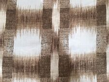 PK LIFESTYLES WILLIAMSBURG RALEIGH IKAT MINK LINEN DRAPERY FABRIC OUTLET BTY