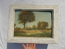 TABLEAU ANCIEN HSI ISOREL PAYSAGE BOCAGE CAMPAGNE OLD ANTIQUE PAINTING  XX
