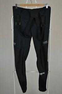 Mens gore Bike Wear Windstopper Soft Shell Cycling Bib Pants Size L Large