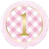 First 1st Compleanno Rosa 45.7cm Lamina Palloncino Elio Festa Decorazione